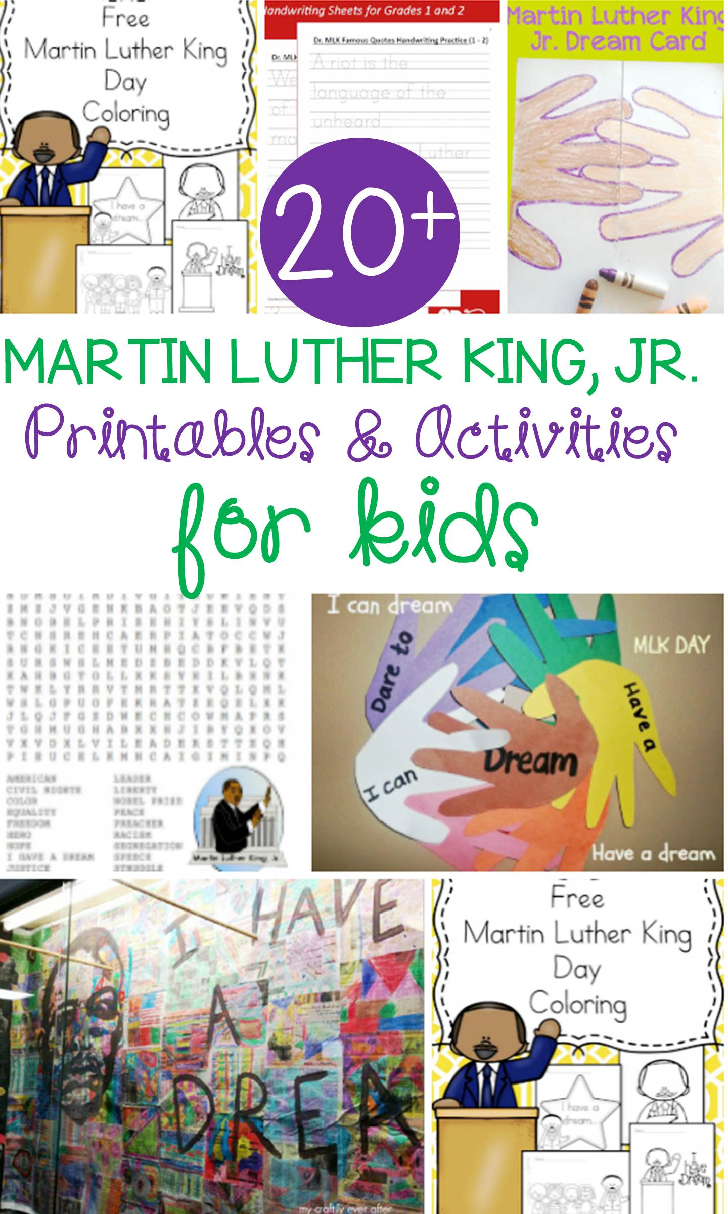 Free Martin Luther King Jr Activities For Kids