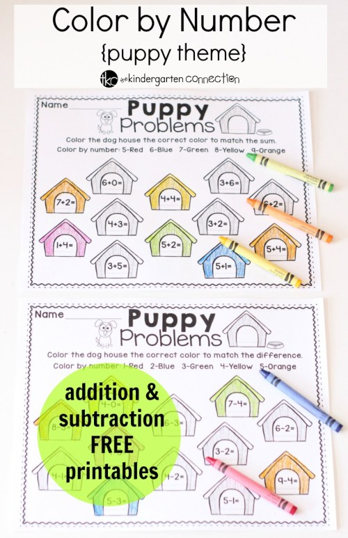 small resolution of Free Color by Number Math Printables