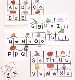 Printable ABC Puzzles for Pre-K and Kindergarten [ 1230 x 800 Pixel ]