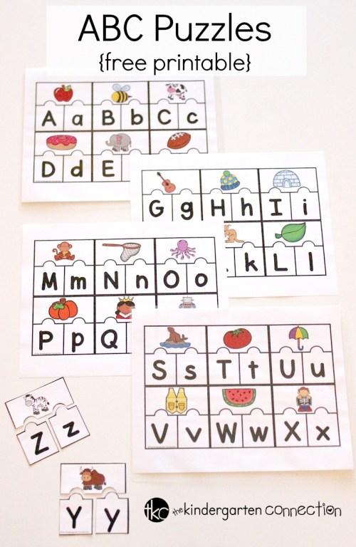 small resolution of Printable ABC Puzzles for Pre-K and Kindergarten