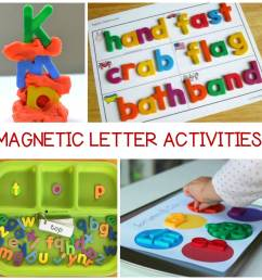 Out of the Box Magnetic Letter Activities Kids Will Love [ 960 x 960 Pixel ]