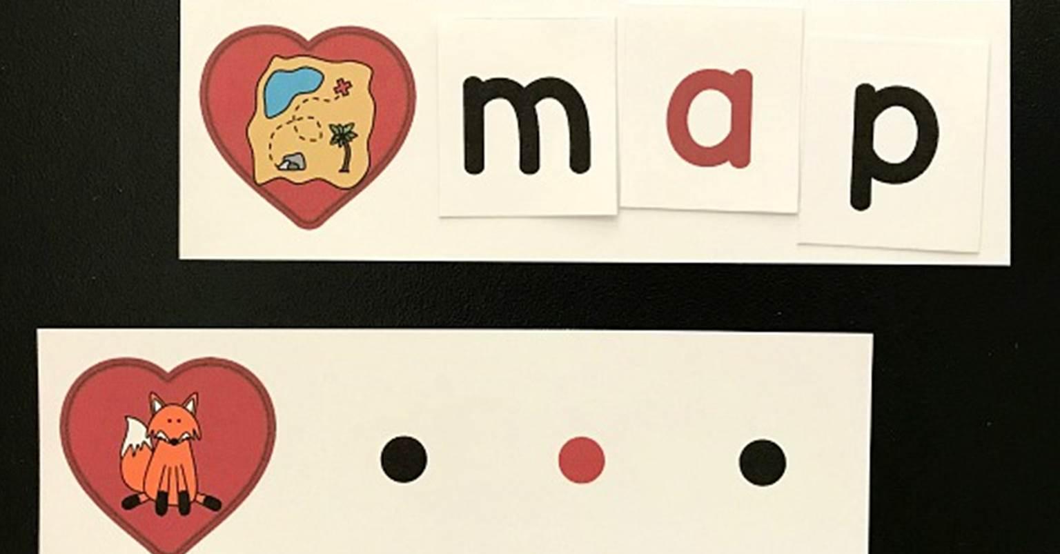 Valentine Spelling Cvc Words Literacy Center