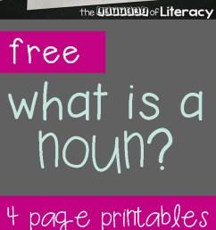 FREE Printable Nouns Activities for Kindergarten and 1st Grade! [ 2100 x 600 Pixel ]