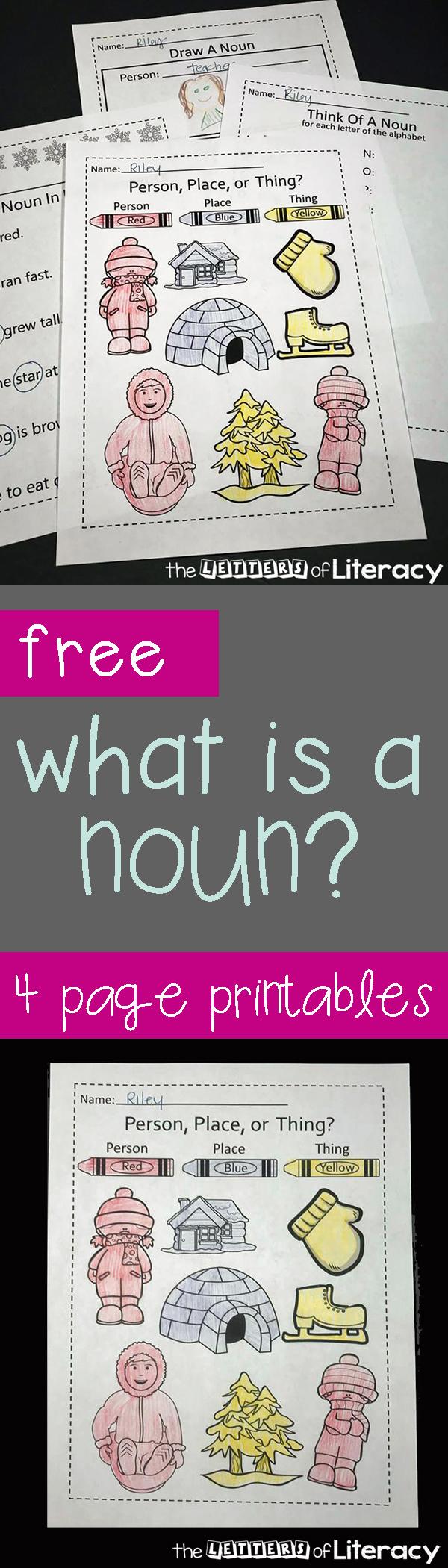 medium resolution of FREE Printable Nouns Activities for Kindergarten and 1st Grade!