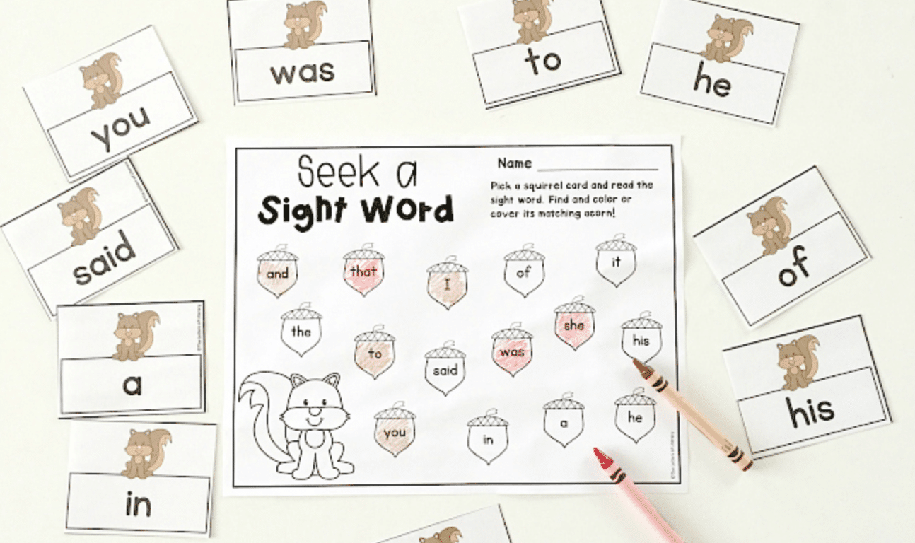 hight resolution of FREE Fall Editable Sight Word Game for Kindergarten or 1st Grade!