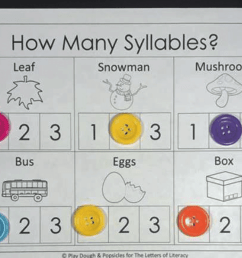 How Many Syllables? A Syllable Counting Printable Pack [ 906 x 1292 Pixel ]