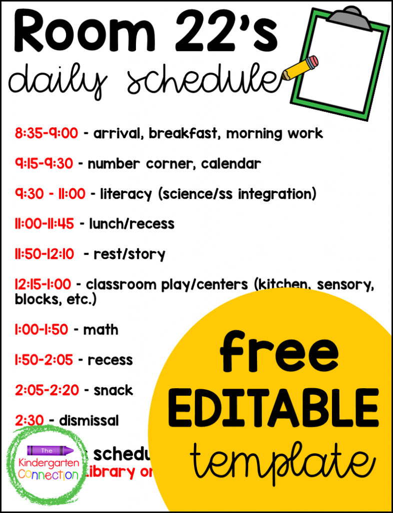 hight resolution of A Look at a Full Day Kindergarten Schedule - The Kindergarten Connection