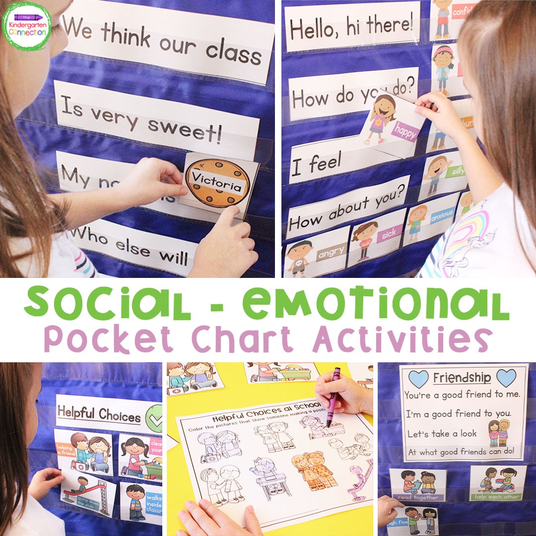 Social Emotional Activities For Pocket Charts The
