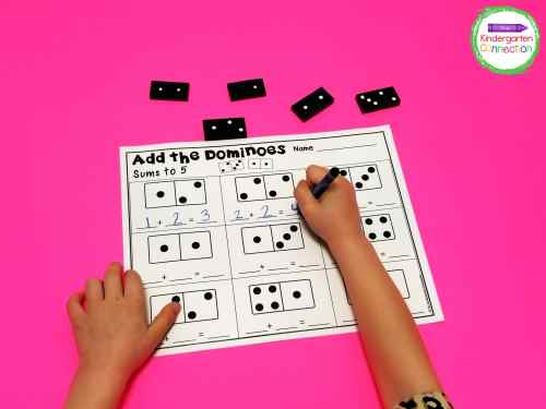 small resolution of Domino Addition Printables - The Kindergarten Connection