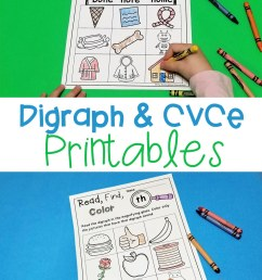 FREE Printable Digraph and CVCe Activities for Beginning Readers [ 1500 x 1000 Pixel ]