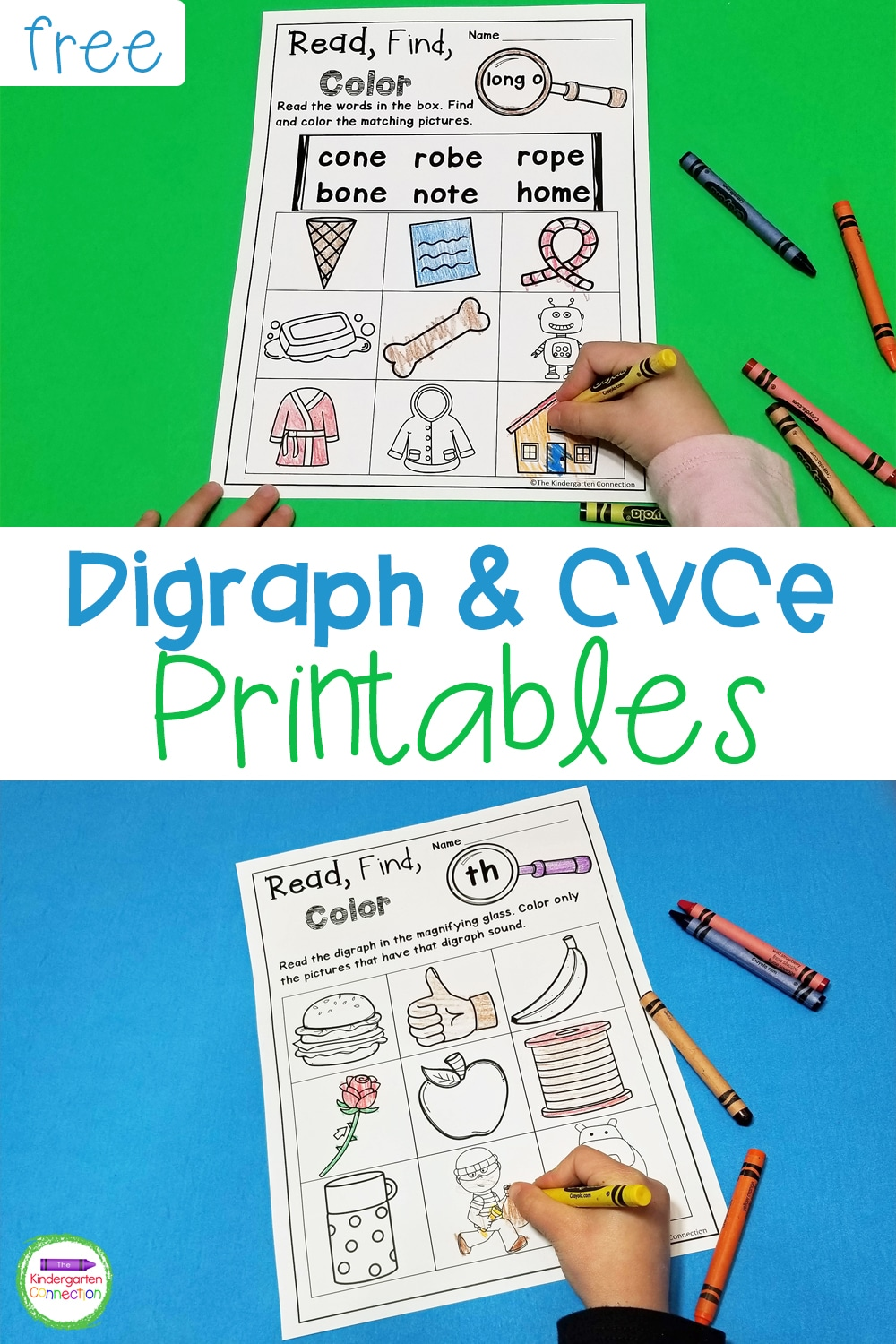 medium resolution of FREE Printable Digraph and CVCe Activities for Beginning Readers