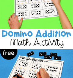 Domino Addition Printables - The Kindergarten Connection [ 1500 x 1000 Pixel ]