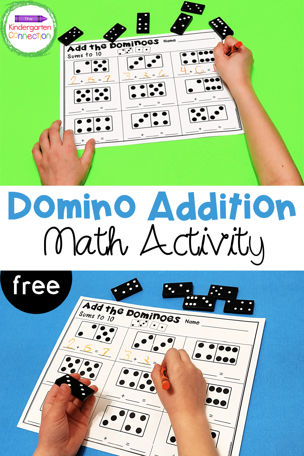 medium resolution of Domino Addition Printables - The Kindergarten Connection