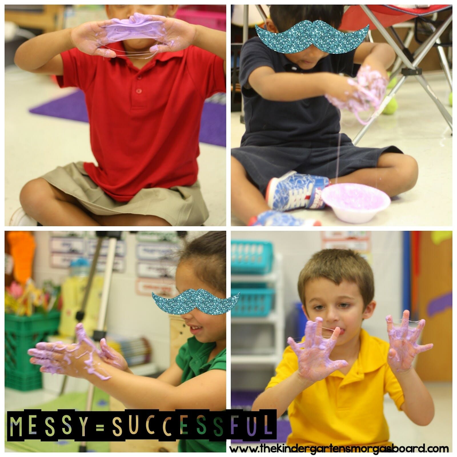 A Kindergarten Smorgasboard Mad Science Friday Galaxy Slime