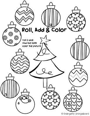 A Kindergarten Smorgasboard 12 Days Of Christmas Freebie