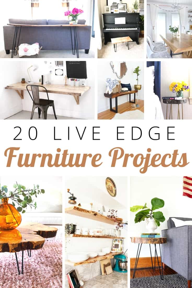 20 diy live edge furniture projects you