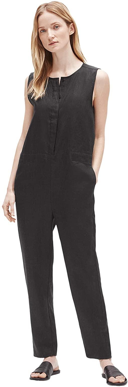 Organic Linen Round Neck Jumpsuit, $139 @eileenfisher.com