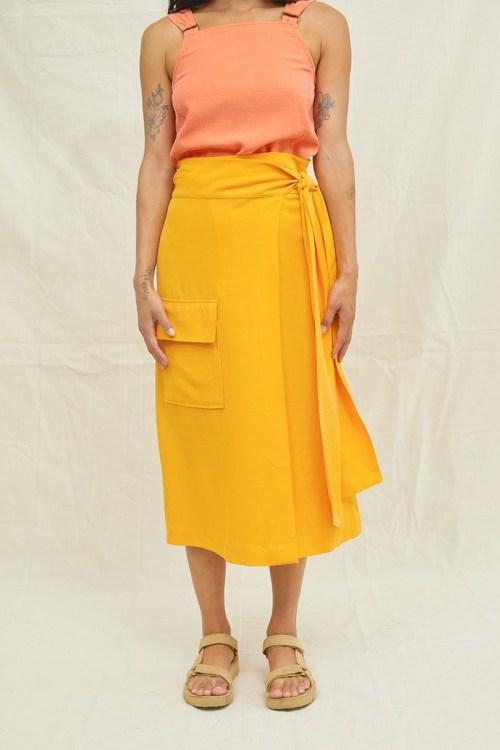 Tencel Wrap Skirt, $128 @backbeat.co