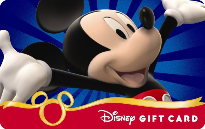 Disney Gift Card Giveaway