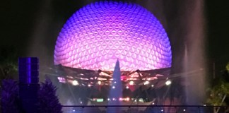 Spaceship Earth at Night | Epcot | Walt Disney World in Orlando, Florida