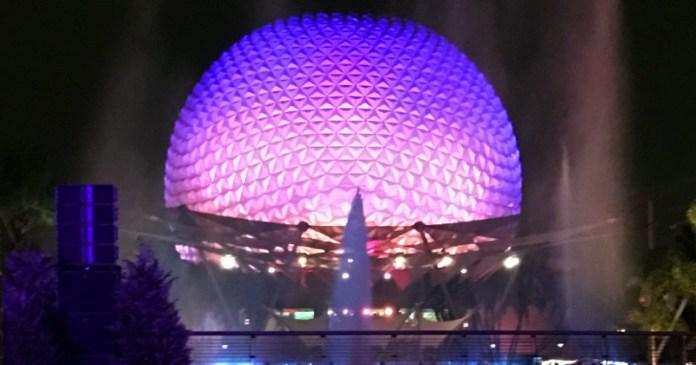 Spaceship Earth at Night | Epcot | Walt Disney World in Orlando, Florida