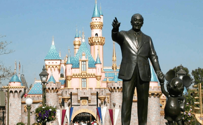 Partners | Disneyland Statur of WAlt Disney and Mickey mouse