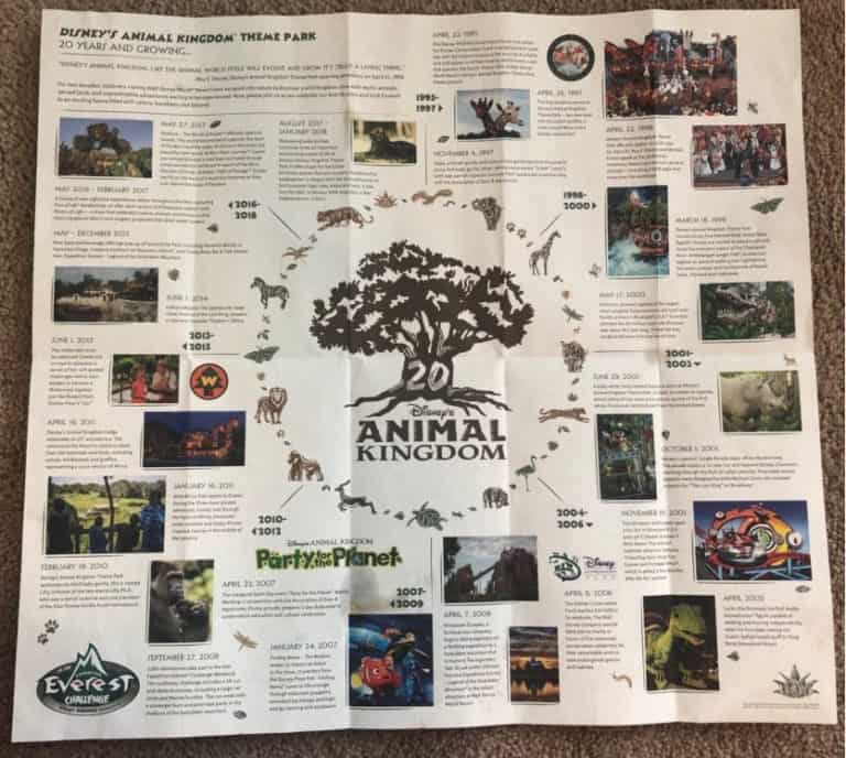 First Look - Park Map Images for Disney's Animal Kingdom 20th Anniversary