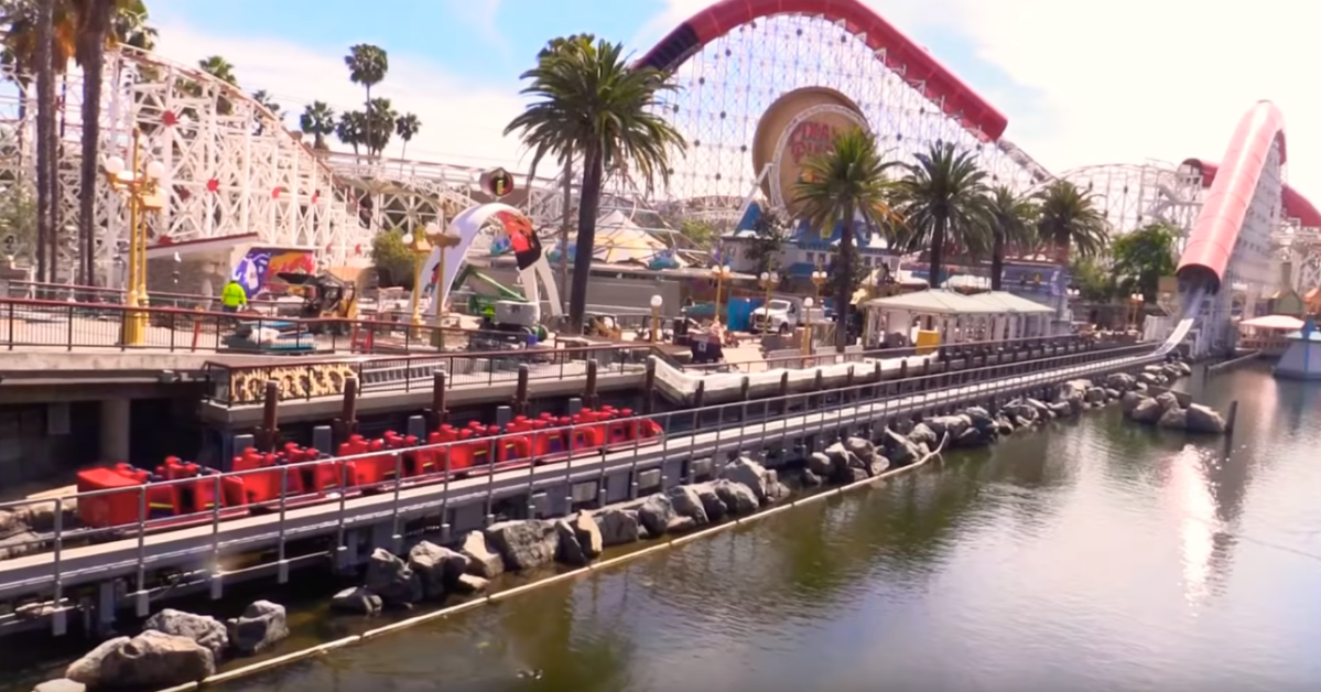 WATCH - Pixar Pier 'Incredicoaster' Testing, Water Effect Confirmed