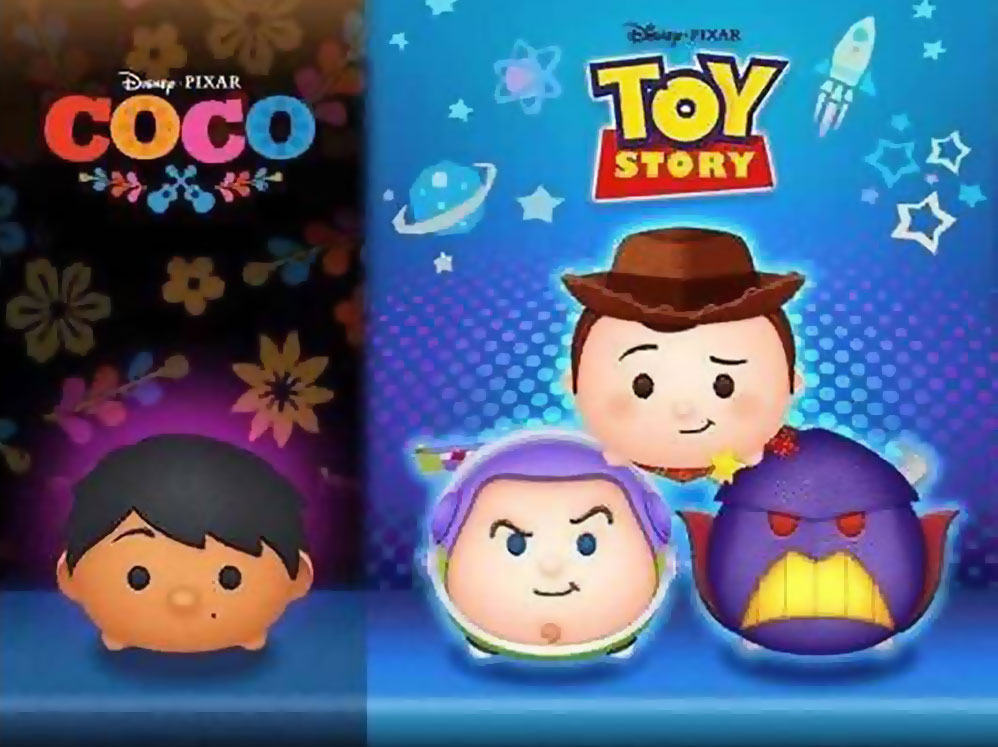 The June 2018 Tsum Tsum Event features 'Toy Story' and 'Coco'