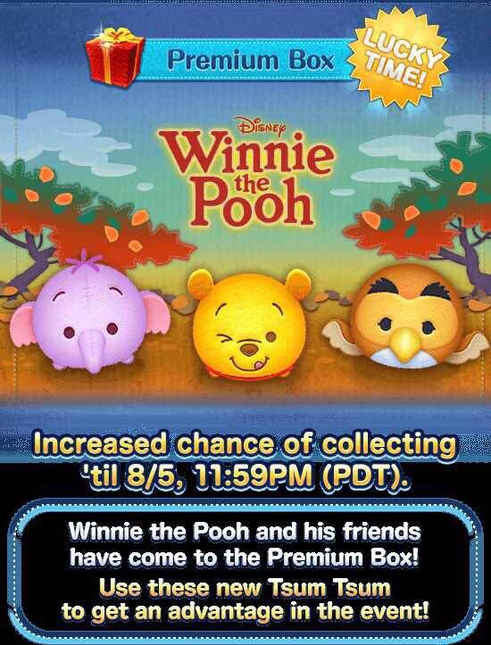 August 2018 Tsum Tsum Event Features 'Winnie the Pooh'