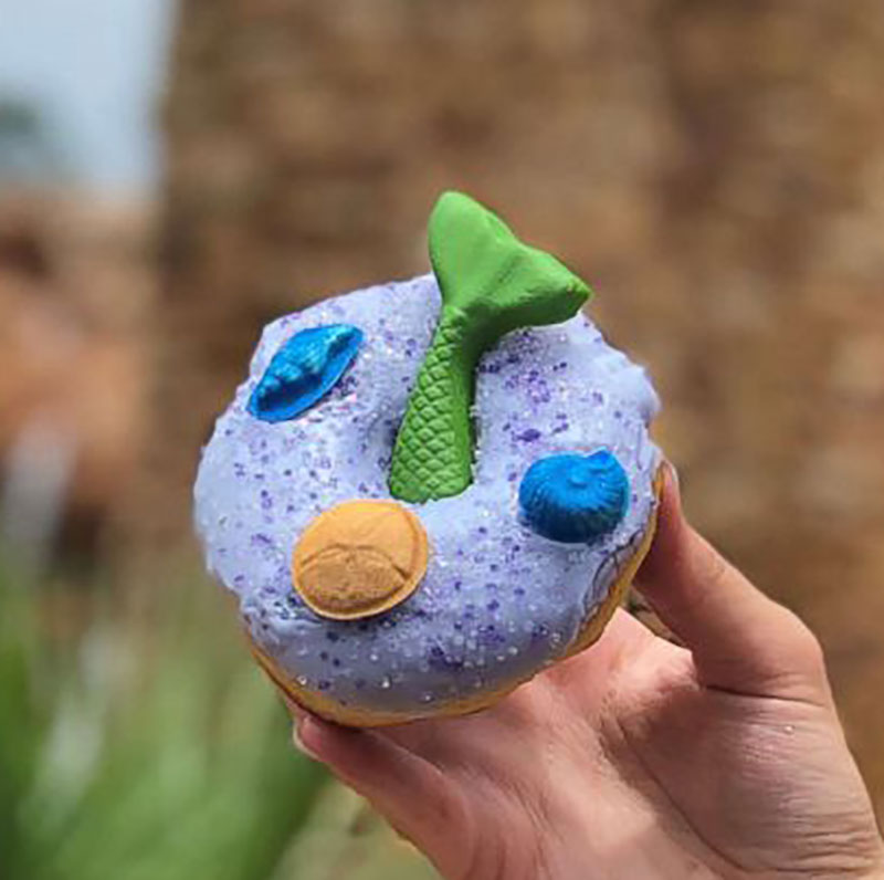 The Mermaid Donut Just Splashed Into the Magic Kingdom