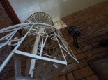 Lines: spiral staircase at an old brick church in Caramoan