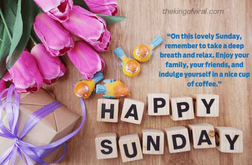 Happy sunday wishes with quotes images