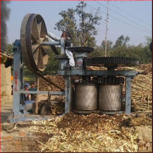 jaggery with sugarcane juice