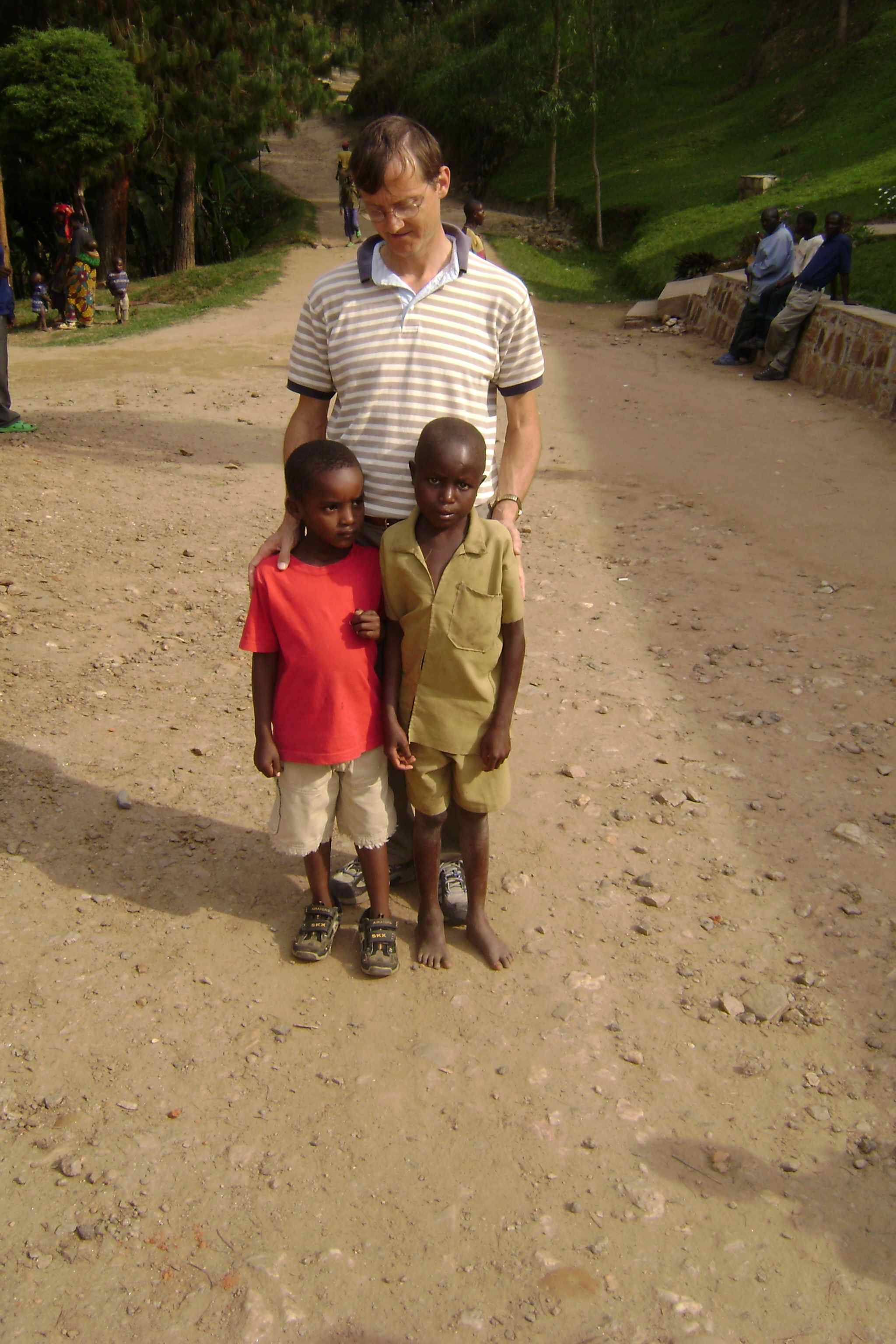 Hakizimana, in the Khaki, is 13; Moses, in red, is 5