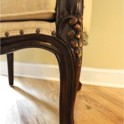French Canopy Chair Cover Rentals Liverpool Antique Off White Dome Porters Dark Mahogany