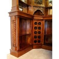 Solid Mahogany Corner Home Bar Furniture with Tiffany ...