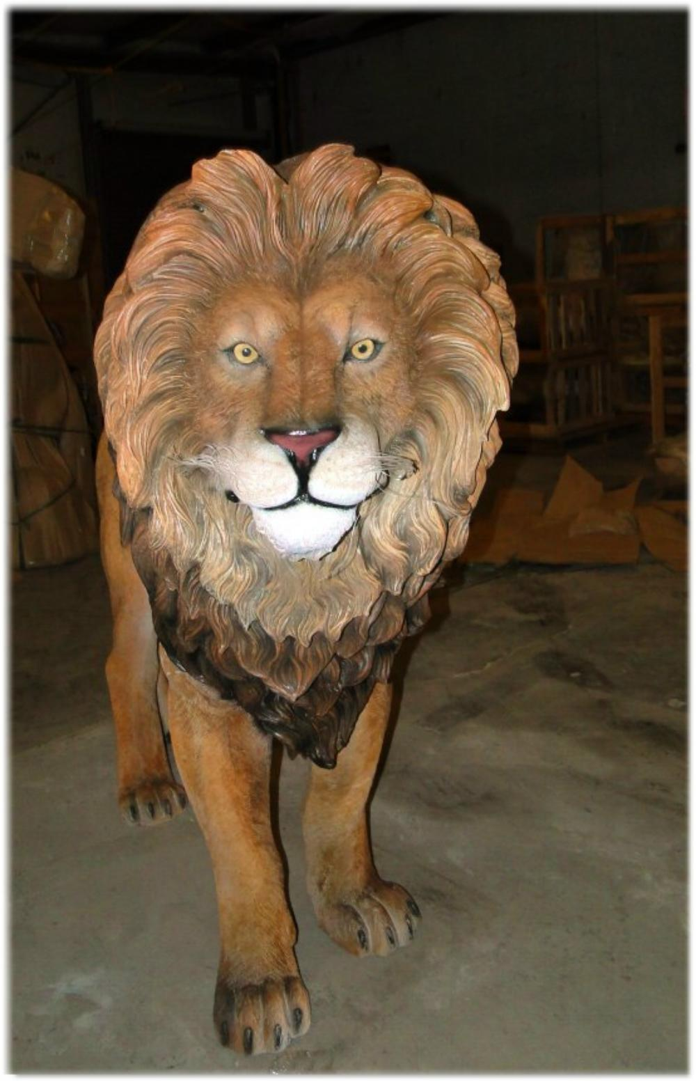 Life Size LION KING SCULPTURE Statue Full Size Zoo Animal