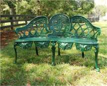 English Garden Bench Furniture Victorian Style Cane