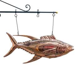 fish market tuna fish copper sign 3d restaurant decor sea food trade sign nice the kings bay [ 1500 x 1500 Pixel ]
