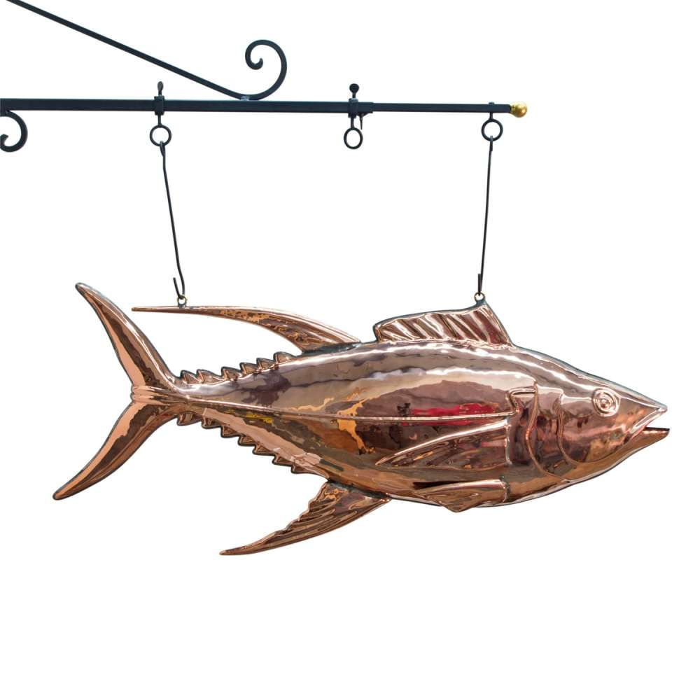 medium resolution of fish market tuna fish copper sign 3d restaurant decor sea food trade sign nice the kings bay