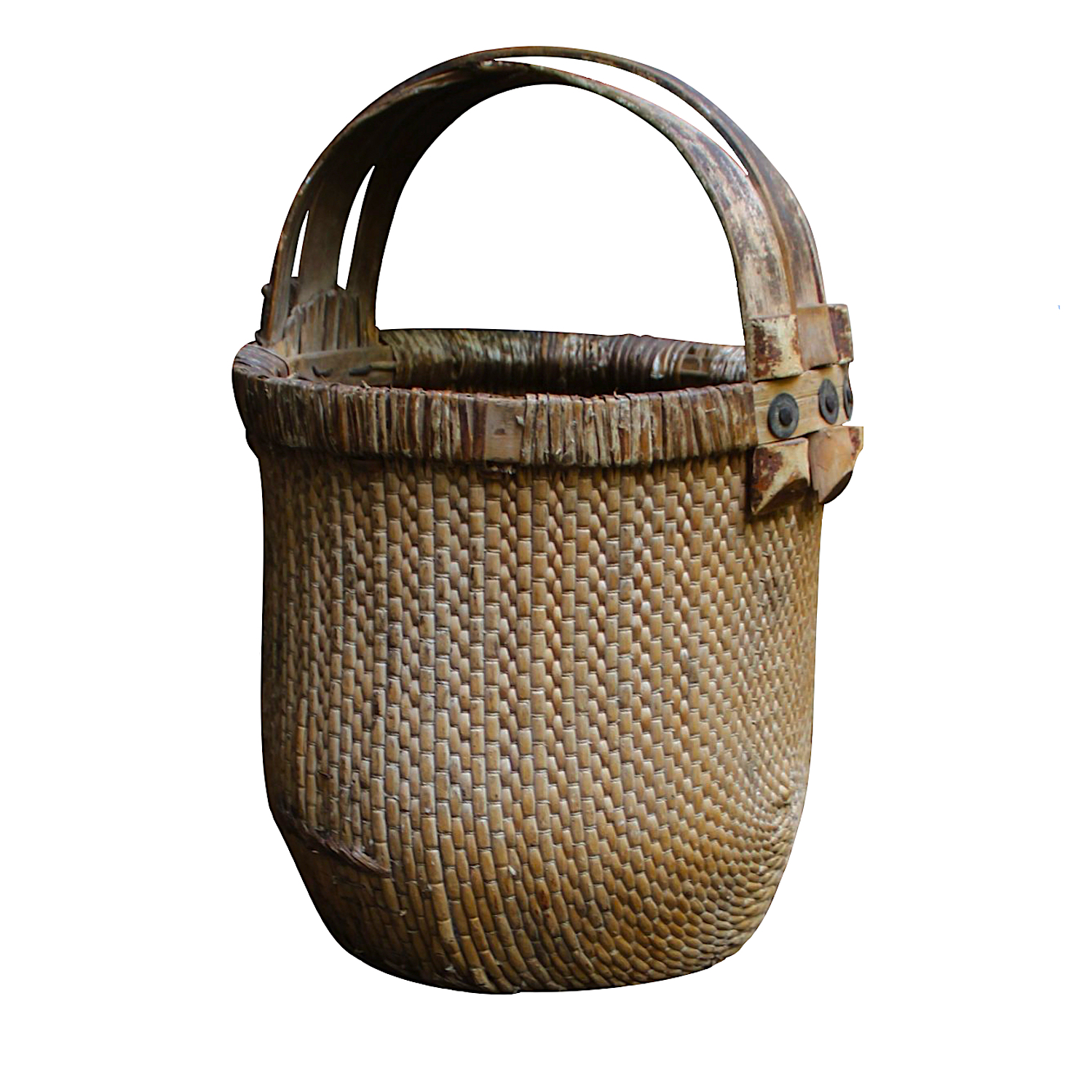 chinese basket with old