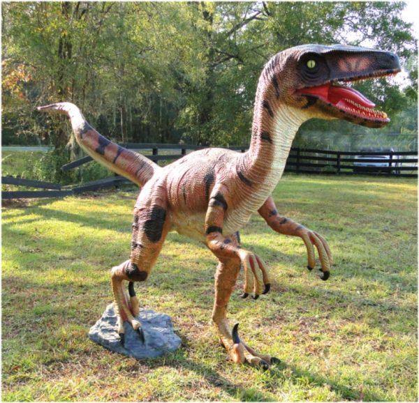 life size velociraptor dinosaur
