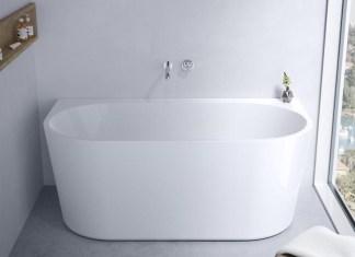 Aura back-to-wall bath