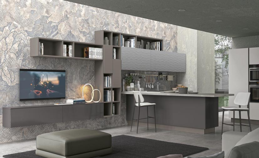 living room built in wall units italian leather sets the by cucine lube - kitchen and bathroom blog