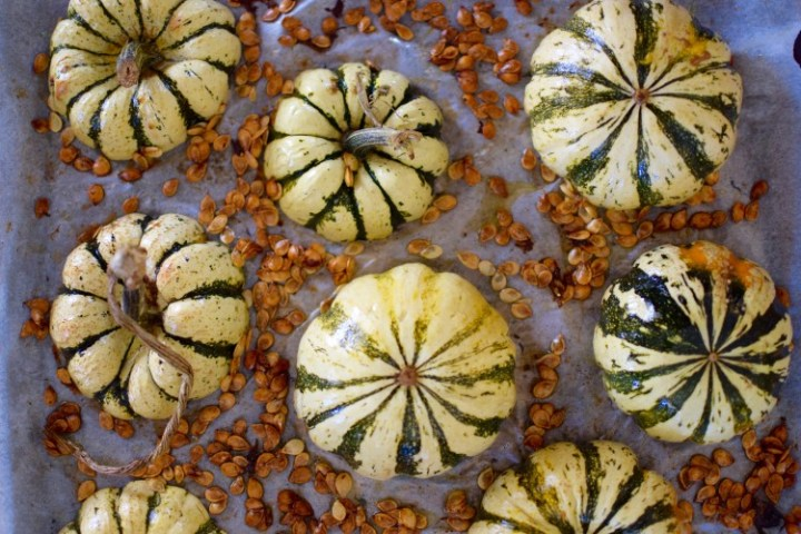 Roasted Squash and Seeds