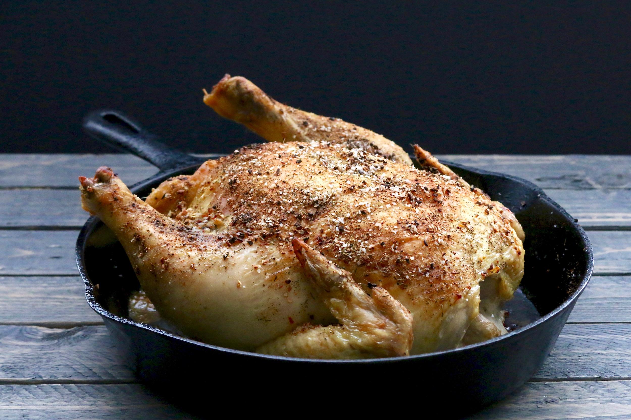 Cast Iron Roasted Chicken