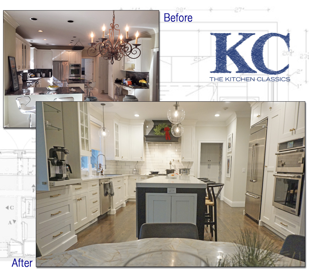 kitchen remodeling projects island granite top breakfast bar project westchester county new york ny before and after remodel photograph