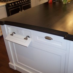 Kitchen Phone Stone Countertops Outlets Revamped The Connoisseur An Outlet Built Into A Drawer Acts As Perfect Cell Camera Charging Station Keeping Your Neat And Clean