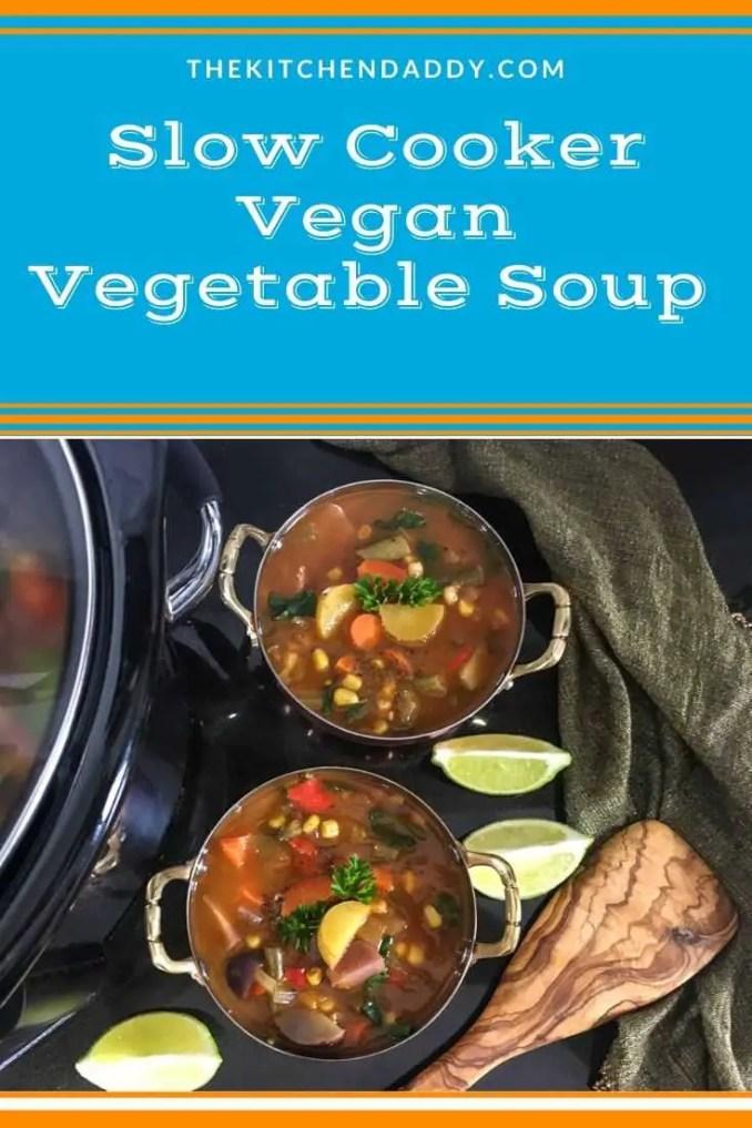 Slow Cooker Vegan Vegetable Soup